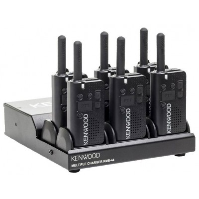 Kenwood PKT-23 UHF Two Way Radio 6-Pack With Charging Platform