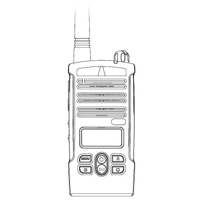 Motorola CP110m Display MURS License Exempt VHF Two Way Radio