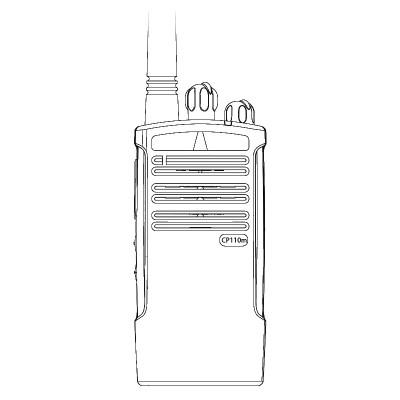 Motorola CP110m Non Display MURS License Exempt VHF Two Way Radio